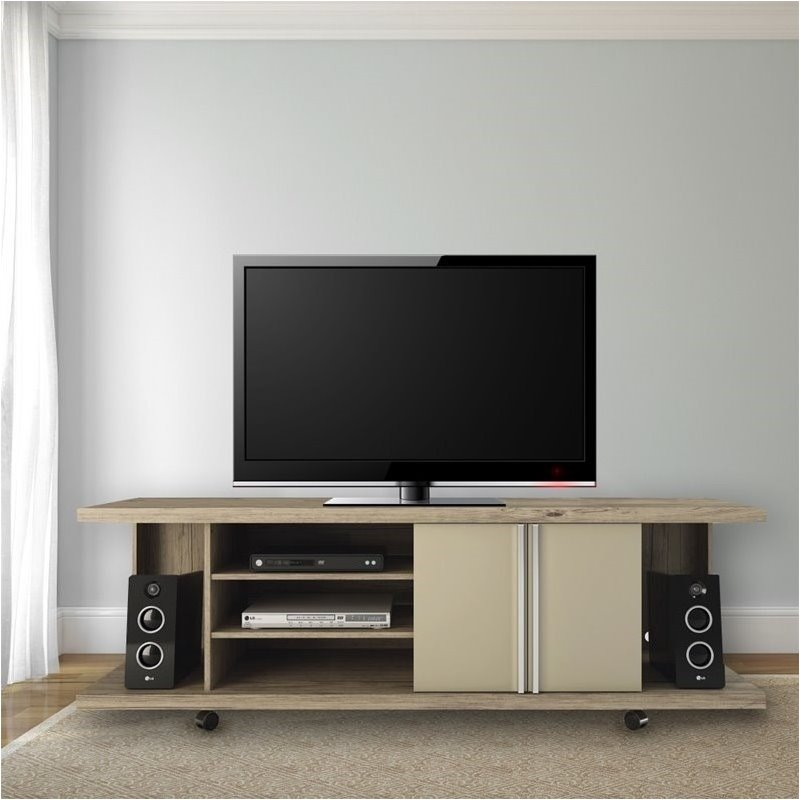Bowery Hill TV Stand in Nature and Nude