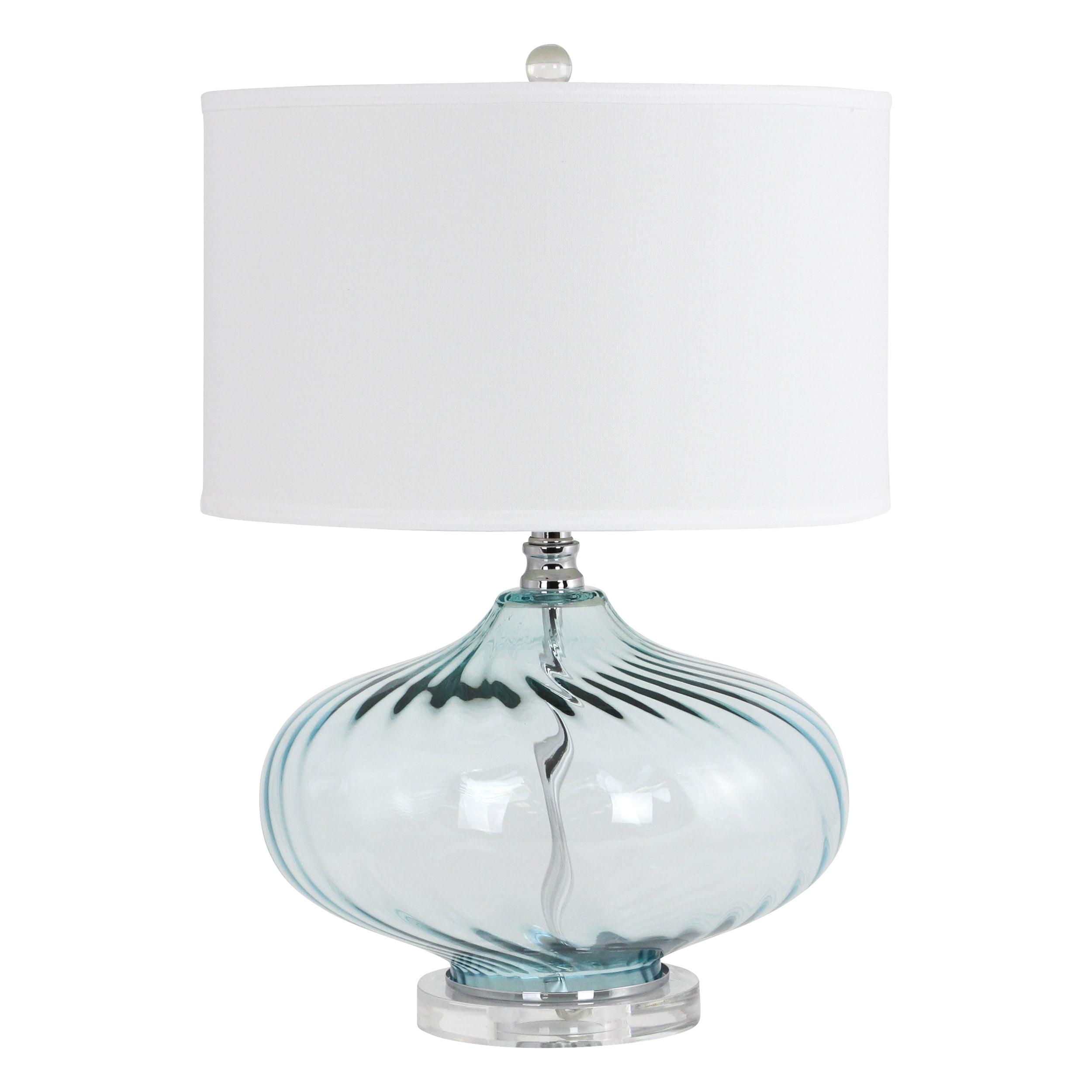 Kamille Blue Glass Table Lamp Walmart Com