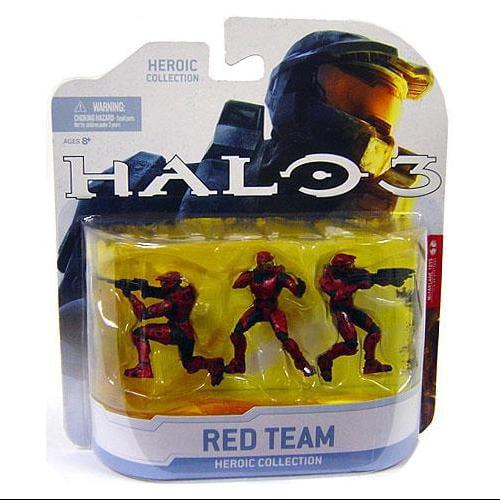 Halo Wars Heroic Set Squad 3 Red UNSC 3-pack Figures McFarlane