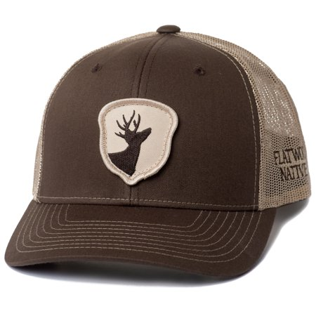 Flatwood Natives Brown and Khaki Front Acorn Patch Trucker Style Hat