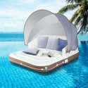 Costway Inflatable Pool Float Lounge Swimming Raft