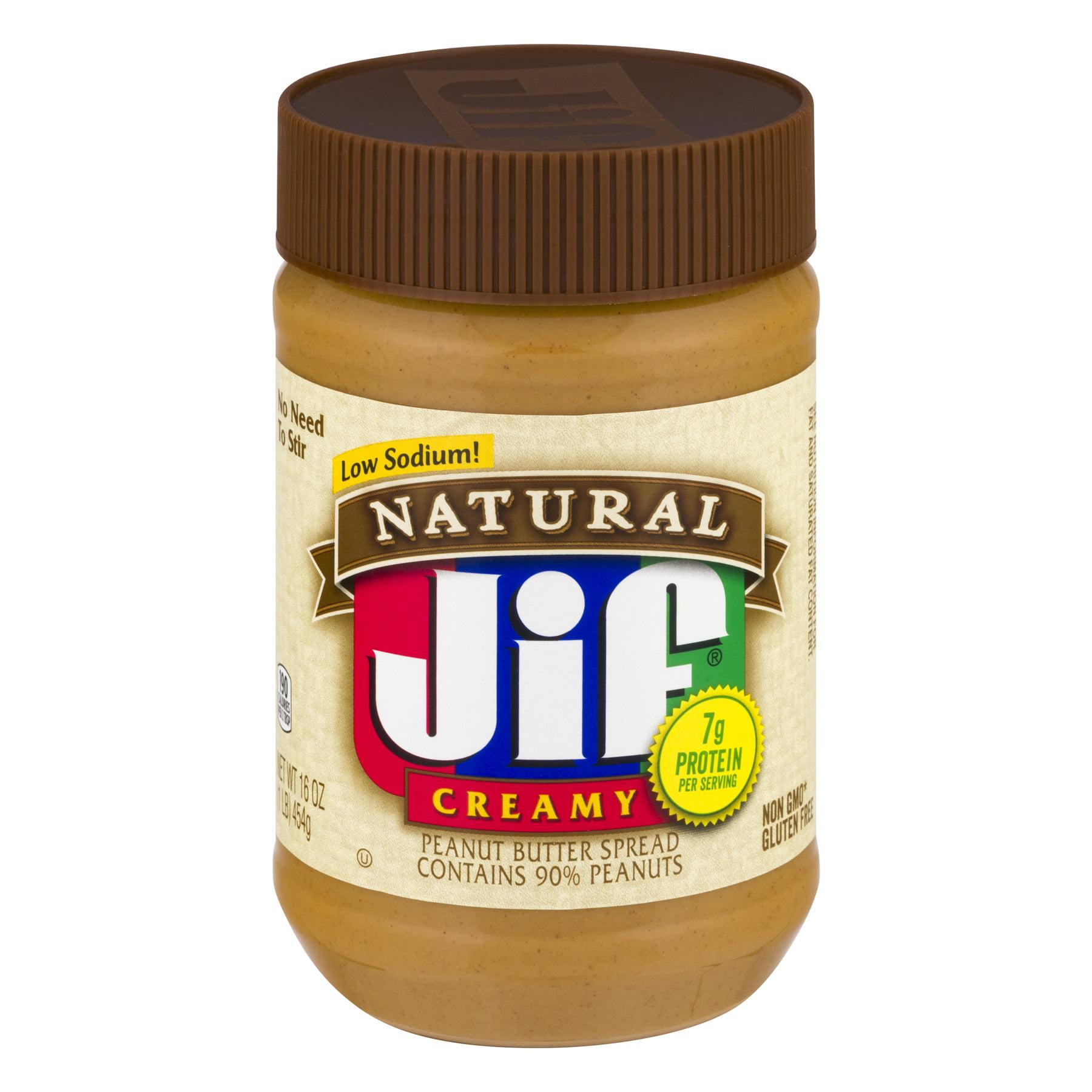 Jif Natural Creamy Peanut Butter, 16 oz