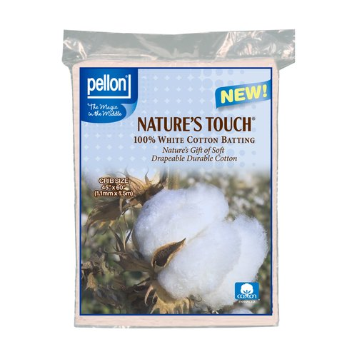 Pellon Nature's Touch White Cotton Packaged Batting, Available in Multiple Sizes