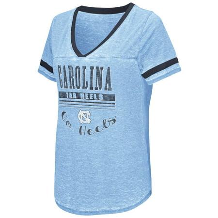 North Carolina Tarheels Womens Ncaa  Gunther  Dual Blend Burn Out T Shirt