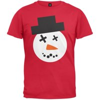 product image snowman face ugly christmas sweater red t shirt