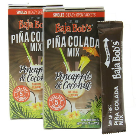 Baja Bob's Sugar Free Pina Colada Cocktail Mix Singles - Strawberry Pina Colada