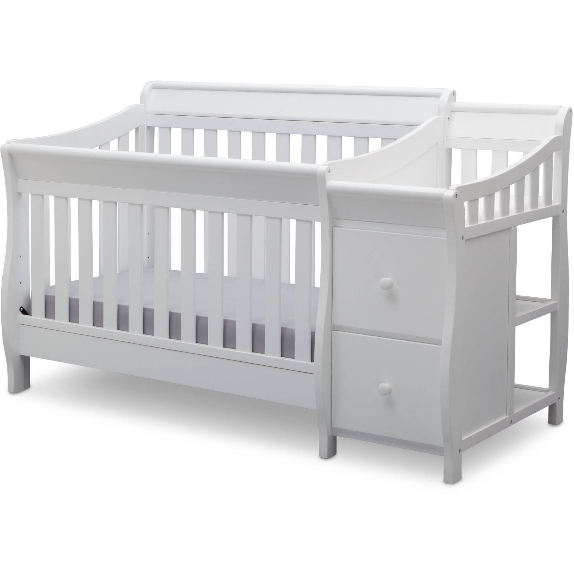 Delta Children Bentley S Convertible Crib N Changer Combo White