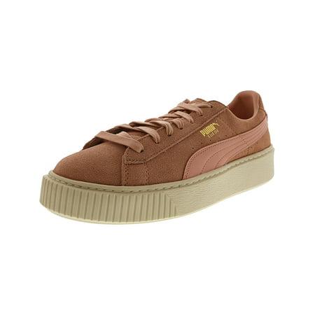nouveau style 68a5c 04887 Puma Women's Suede Platform Core Coral Cloud / Whisper White Ankle-High  Fashion Sneaker - 10M