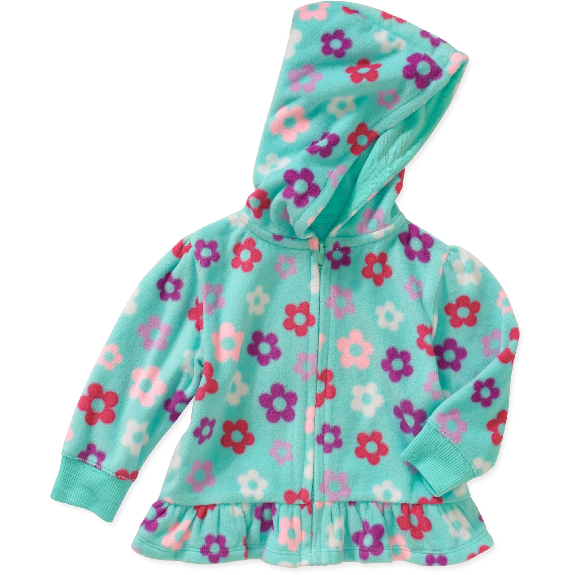 Garanimals Baby Girl Print Micro Fleece Hoodie
