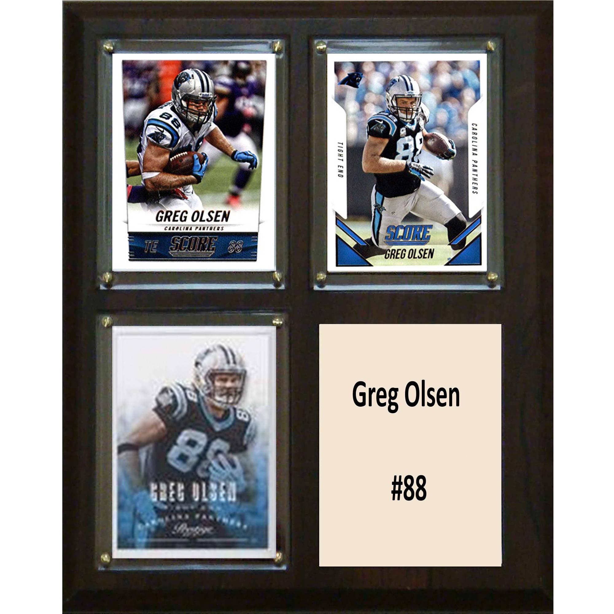 C&I Collectables NFL 8x10 Greg Olsen Carolina Panthers 3-Card Plaque