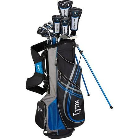 New Lynx Predator 17 Piece Complete Golf Set Driver Woods Irons Putter