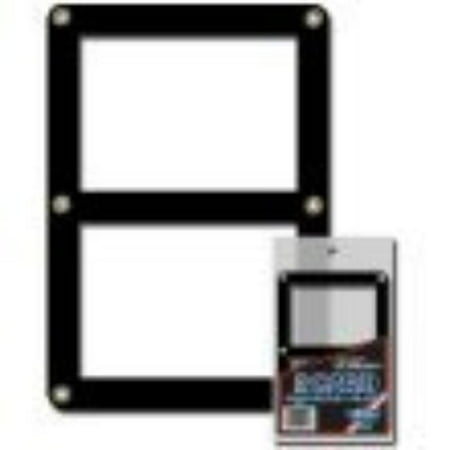 Double Card Screwdown Holder - Black Border - Baseball, Football, Basketball, Hockey, Nascar, Sportscards, Gaming & Trading Cards Collecting Supplies, Holds 2.., By BCW