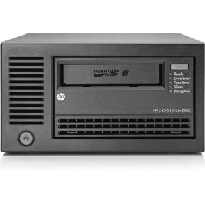 HPE StoreEver LTO-6 Ultrium 6650 - Tape drive - LTO Ultrium (2.5 TB / 6.25 TB) - Ultrium 6 - SAS-2 - external - encryption - for ProLiant DL320e Gen8, DL360 G7, DL380 G7, DL385p Gen8, SL230s Gen8, SL270s Gen8