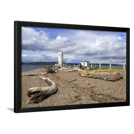 Brown's Point Lighthouse, Tacoma, Washington State, United States of America, North America Framed Print Wall Art By Richard Cummins