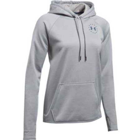 d725a4f96432 1299263 - Under Armour 1299263 Women s True Gray Freedom Flag Rival Hoodie  - Size XS - Walmart.com