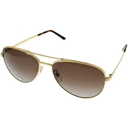 Cartier Santos De Men Polarized Sunglasses Brushed Gold Aviator (Cartier Sun Glasses)