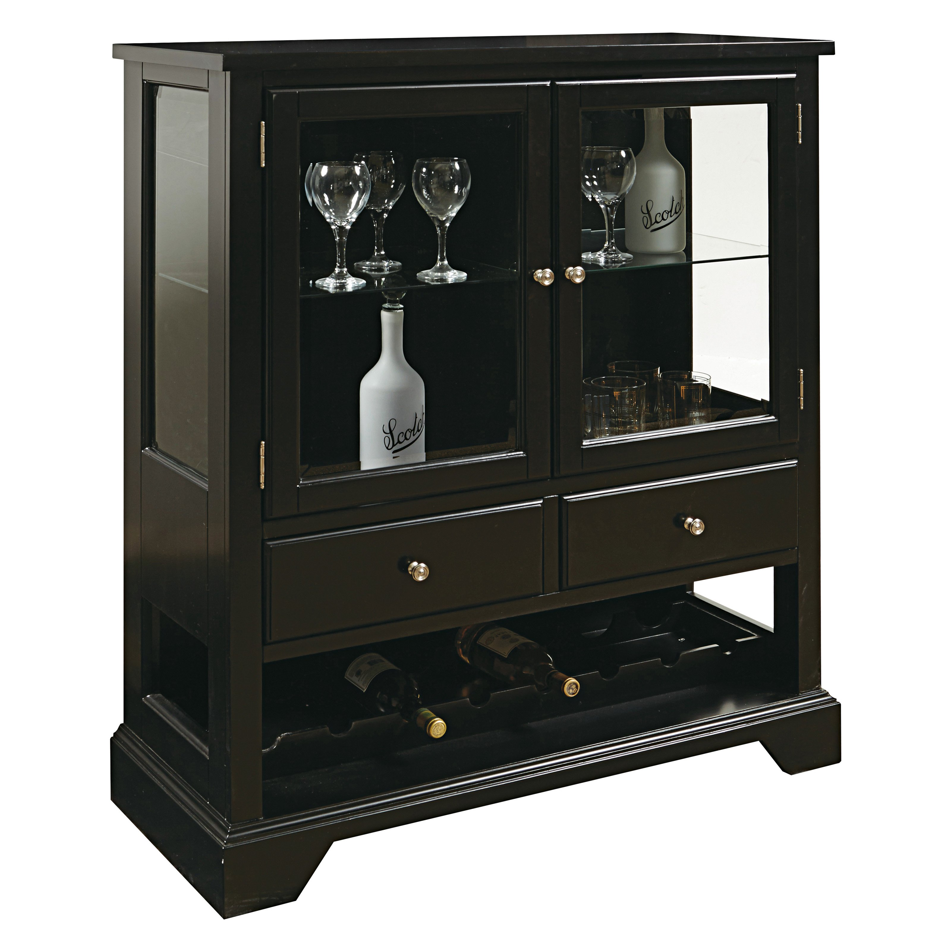 Pulaski Furniture Grullo Dark Wood Wine Cabinet - Walmart.com