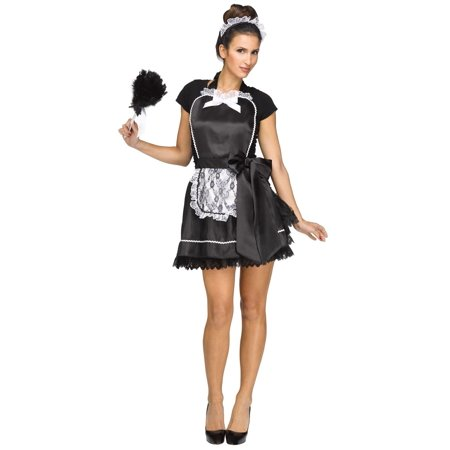 French Maid Apron & Headband - - French Maid Roleplay