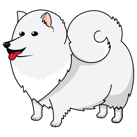 American Eskimo Dog Decal | Indoor/Outdoor | Dog Lover Super Cute Sticker for SUV Windows, Dorm Rooms, Bedroom, Offices | SignMission personalized gift | 12