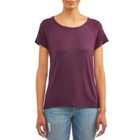 Time and Tru Women's Short Sleeve Raglan T-Shirt