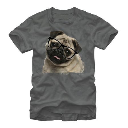 Men's Pug Nerd T-Shirt - Nerd Shirts For Halloween
