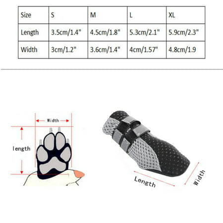 Dog Boots Paw Protectors Antiskid Durable Soft Warm Pet Shoes for Small to Large Dogs 4 Pcs