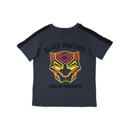 Marvel Toddler Boys Gray Black Panther T-Shirt King Of Wakanda Tee Shirt (Baby Boy Panthers)
