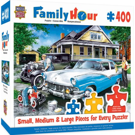 Family Hour Three Generations Large 400 Piece EZGrip Jigsaw Puzzle by Dan  Hatala