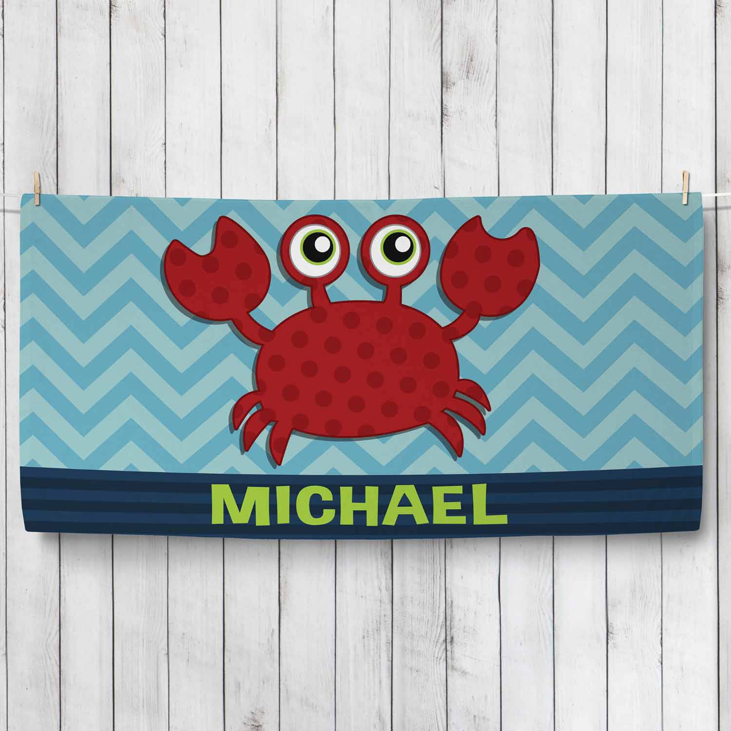 Personalized Sweet Crab Towel