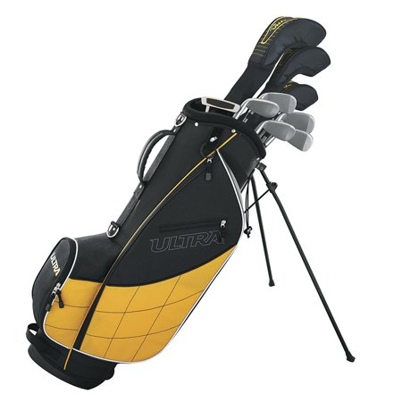 Wilson Ultra Men's Complete 13 Piece Right Handed Golf Club Set & Stand, Yellow (Baby Golf Set)