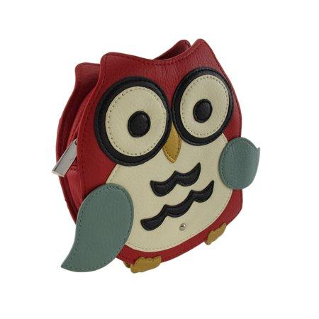 Vinyl Owl Shaped Crossbody Purse