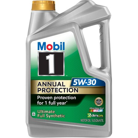 Oil Change At Walmart >> Mobil 1 Annual Protection Synthetic Motor Oil 5w 30 5 Qt