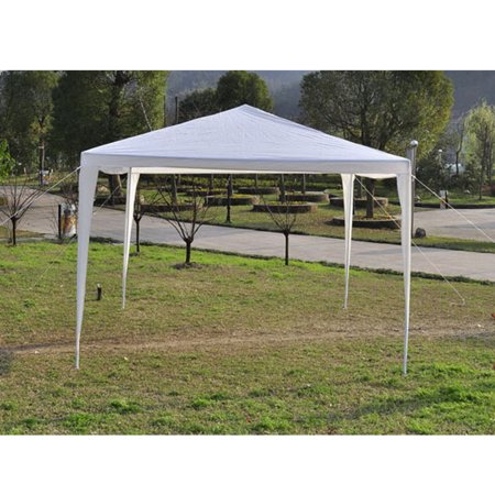 Pabby Yard 10'X10' Easy Pop up Canopy Party Event Tent, White Canopy Wedding Party Tent for Outside, Practical Waterproof Folding Tent for Camping Commercial Event Gazebo