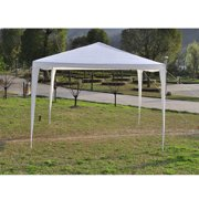 Pabby Yard 10'X10' Easy Pop up Canopy Party Event Tent, White Canopy Wedding Party Tent for Outside, Practical Waterproof Folding Tent for Camping Commercial Event Gazebo Pavilion