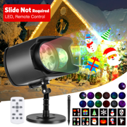 Halloween Christmas Projector Light, AGPTEK LED Lights, No Slides Upgraded 2-in-1, 13 Water Wave & Moving Patterns
