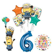 Despicable Me 3 Minions Stackers 6th Birthday Party Supplies and balloon Decorations