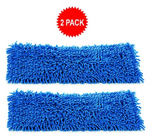 2-pack of 18 inch Inch Premium Chenille Microfiber Wet Mop Pads for Professional Commercial Microfiber Mops - image 2 de 2