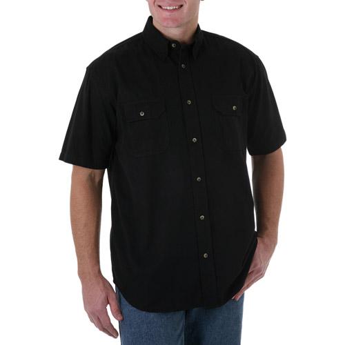 Wrangler Men's Short Sleeve Solid Woven Shirt