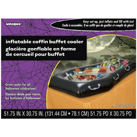 Coffin Halloween Inflatable Buffet Cooler - Dry Ice Halloween Ideas