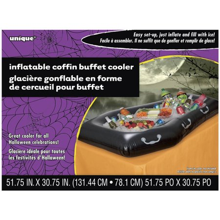 Coffin Halloween Inflatable Buffet - Spooky Halloween Buffet Ideas