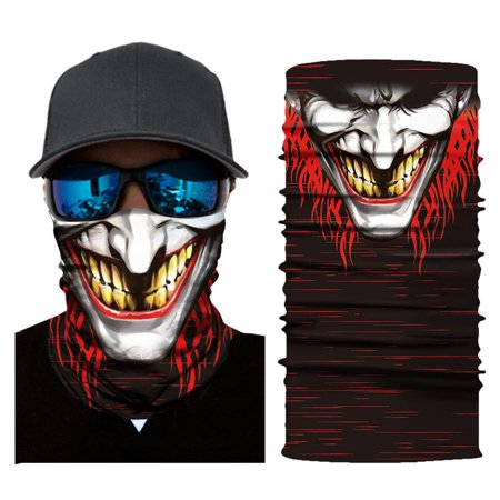 Balaclava Scarf (Cool Robot Mask Scarf Joker Headband Balaclavas for Cycling Fishing Ski Motorcycle AC395)