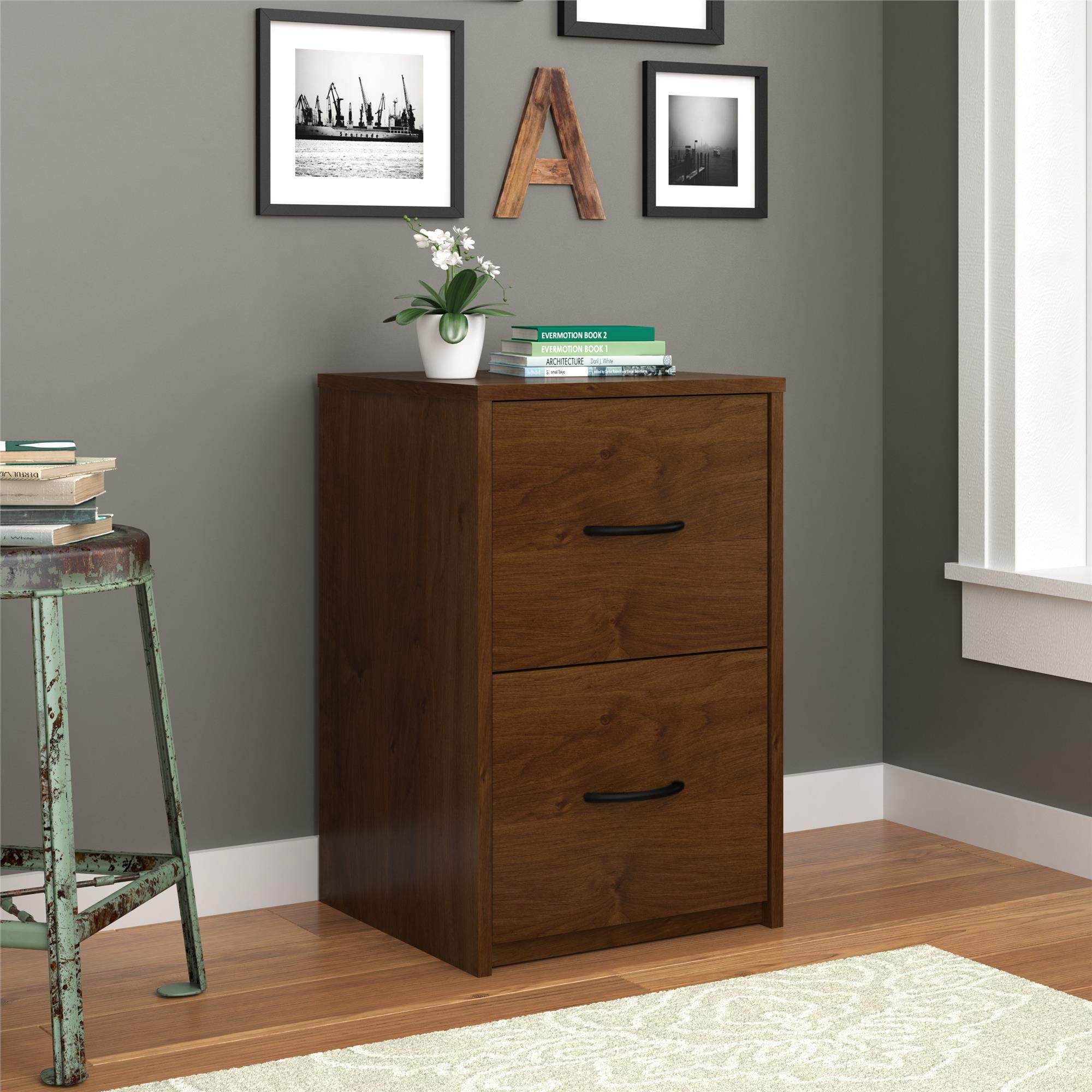 Picture of: Ameriwood Home Core 2 Drawer File Cabinet Medium Brown Walmart Com Walmart Com