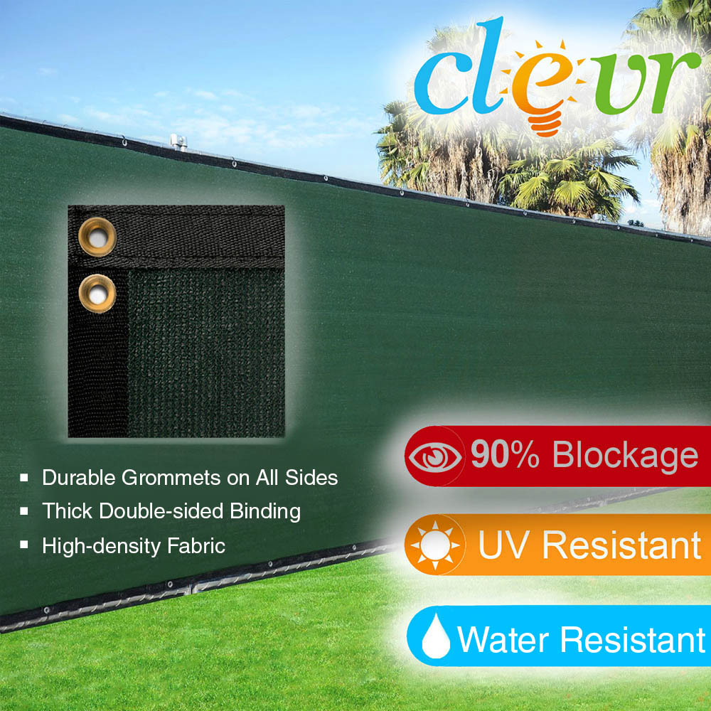 clevr 6u0027 x 50u0027 commercial grade fence windscreen privacy screen shade cover mesh garden - Outdoor Privacy Screens