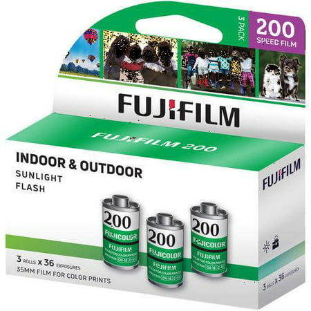 Fuji Superia X-TRA 3 Pack ISO CA 200 36 Exp. 35mm Film, Total 108