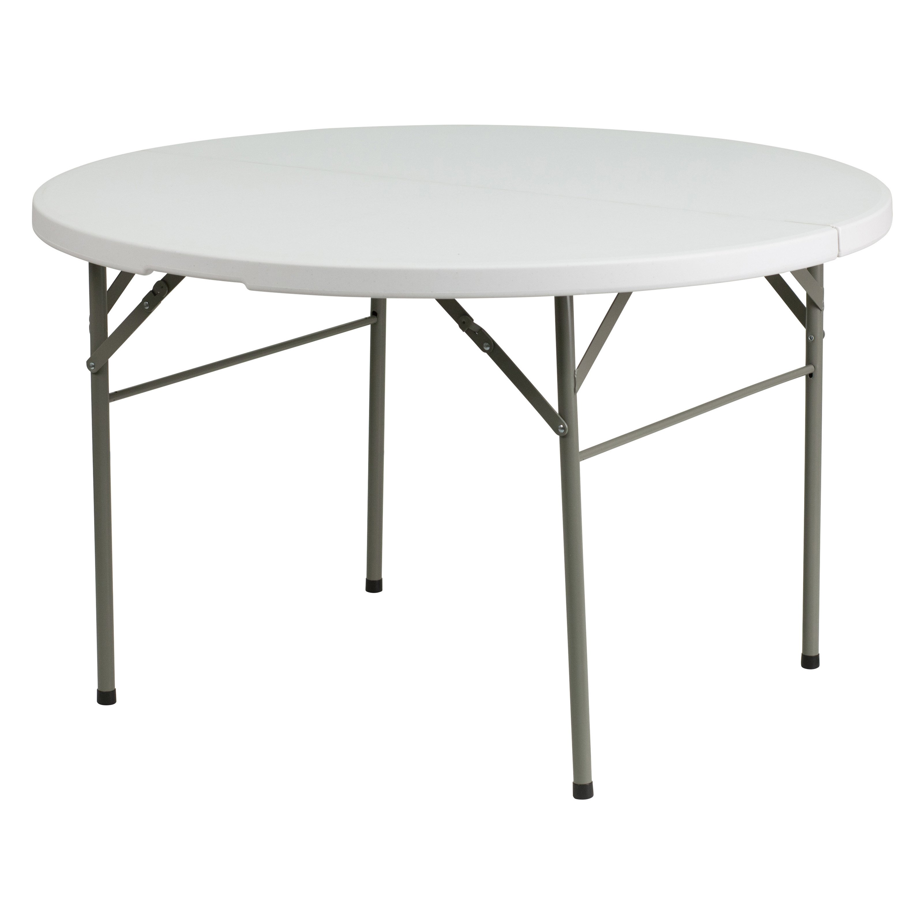 Flash Furniture Square Granite Folding Table in White Walmart