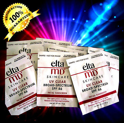 12 X Elta MD UV Clear Broad Spectrum SPF 46, TRAVEL SAMPLES 2g_each SOLLUME ESTHE Newest LED Real Skin Rejuvenation Anti Wrinkle Photon Mask (Made in Korea) with Free Gift All In One Multi Cleansing Mask(1 Sheet)