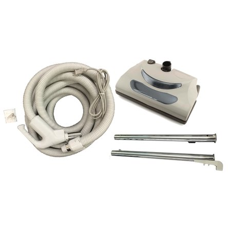 Central Vacuum Exhaust (New Central Vacuum 35 Foot Hose Kit with Power Head for Nutone & Beam )