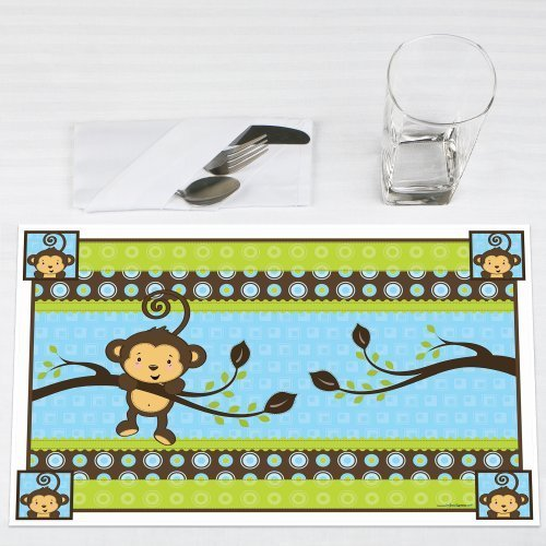 Monkey Boy Party Placemats Set of 12 by Big Dot of Happiness, LLC