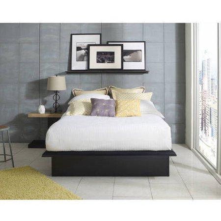 premier austin metal platform queen bed black. Black Bedroom Furniture Sets. Home Design Ideas
