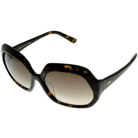 Fendi Sunglasses Womens Havana FS5124 215 Sqare Size: Lens/ Bridge/ Temple: 56-18-130